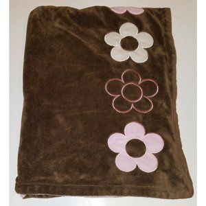 Dwell Studio For Target Brown Fleece Baby Blanket